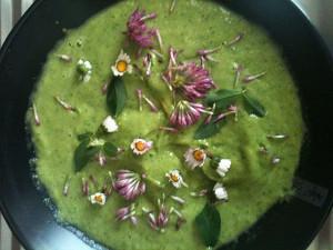 Avocado-Wildkräuter-Suppe – vegan, roh und ganz aus Superfoods.